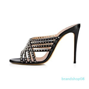 Goddess2019 Rivet Metall Toe Feine mit einem Font Frau Sonstige Mode Ban Tuo Bankett Schuh