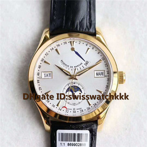Top Q151842A mens watches Power reserve week month Moonphase Display Swiss Cal.924 Automatic Sapphire Crystal 18K Gold Case Mens Watches