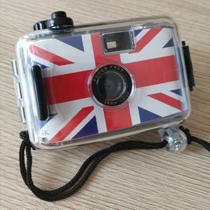 Padrão Bandeira britânica SUC4 Retro Camera Film Mini Point-and-shoot câmera for Children 5m impermeável