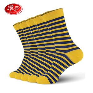 Мужчины хлопчатобумажные носки раздели человек мягкие носки 5 пара/лот человек экипаж носки плюс размер (ЕС 39-46) (США 7.0-12.0) Langsha