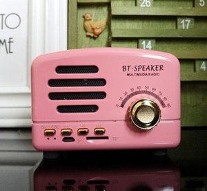 New Retrò Radio HiFi altoparlante senza fili Bluetooth Stereo mini computer altoparlanti esterni Subwoofer Super Bass Sound Box FM Radio BT01