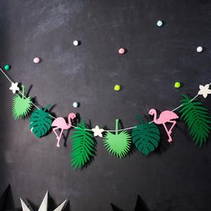 Buena Flamingo y piña Banner Bunting Fiesta de verano Cumpleaños Foto Prop Fiesta tropical Paquetes hawaianos Decoración