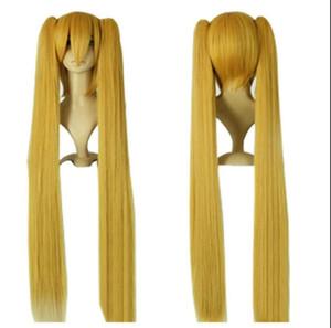 Парик вокалоид мику хацунэ 120см длинный желтый косплей парик великобритания