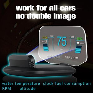 2020 Head Up Display OBDII Car Electronics Display HUD herramienta de diagnóstico de conducción Equipo de alta definición del color del proyector OBD2 modo dual GPS +