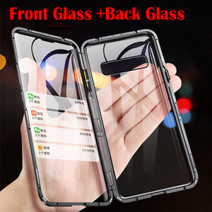360 Double Side Magnetic Adsorption tempered Glass Phone Case For Samsung Galaxy S10 Lite S9 S8 Note 9 10 Plus A50