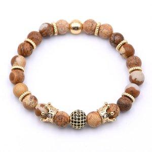 2018 Charm BRACCIALI Multistyle naturali braccialetto pietra perline pulseras Lapislazzuli Donna Uomo
