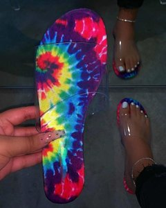 NouC INS HOT Flats Sandales Femmes d'été Pantoufles Toe Sandal coloré plage Diapositives femmes extérieur chaussons navire DROP