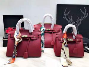 Frauen Handtaschen Umhängetaschen Tote Kupplungsschulterbeutel gute Qualität Leder Litschi Muster 3 Größe 8 Farbwahl