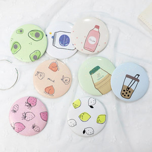 메이크업 미니 거울 드레싱 포켓 미러 귀여운 만화 패턴 휴대용 소형 화장품 작은 거울 미용 도구 여성