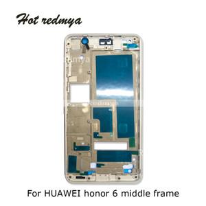 10 Unids Marco Medio para Huawei honor 6 Carcasa Marco Medio Bisel Cubierta de la Placa Media Reemplazo Reparación Repuestos Para el honor 6