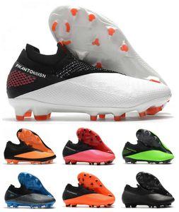 Nueva Phantom VSN Vision II Elite FG DF 2 2S para hombre Blanco Rosa Verde Huelga alta del tobillo Tacos de fútbol Fútbol Tamaño de los zapatos US6.5-11
