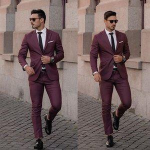Hot-selling Burgundy Mens Suits 2020 Wedding Tuxedos Plus Size Custom Made Groom Groomsmen Designer Suit Men Formal Wear