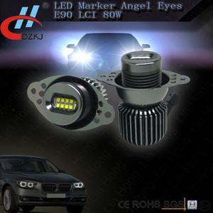 E90 80W 8 leds 6500k LED branco Angel Eyes marcador carros para E90 E91 E60 520D