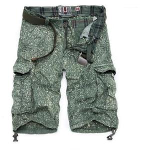 Calças regular bolso curtas Calças Designer Masculino Vestuário Moda Impresso calças cargo Casual soltas Mens