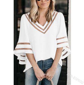 Womends-T-Shirt der beiläufigen 2020 Sommer Short Sleeve aushöhlen T-Shirt Mode Luxus Frauen-Qualitäts-Spleiß-Shirt Black Cloth