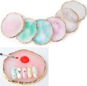 False Nail Tips Tabellone Tavolozza dei colori Nail Art Board Display Holder Salon Natural Resin Manicure Art Tools SN2723