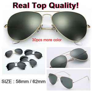 горячие продажи дизайнер солнцезащитные очки высшего качества авиации пилот солнцезащитные очки для мужчин женщин с зеркальным объективом uv400 gafas br3025 градиент len 58 мм 62 мм