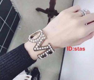 Top Quality Titanium Steel Double T Silver Diamond Luxury Designer Women Men Jewelry Bangle Bracelets