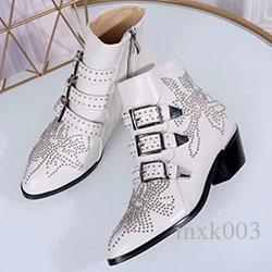 Fashion Women Botas Mujer Leather Tactical Ankle Boots For Female Western Vintage Rivets Studded Motorcycle Punk Shoes Woman Size 35-42 mk02
