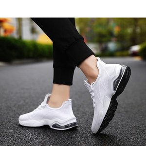 with free socks new Cheap Designer white black men special section sports sneaker increased Jogging fashion running shoes size 36-44