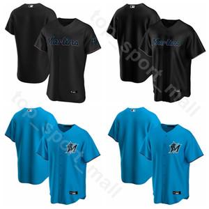 2020 Baseball Hommes Femmes 15 jeunes Brian Anderson Jersey 2 Jonathan Villar 19 Miguel Rojas 27 Matt Kemp Jorge Alfaro Blue Team Noir