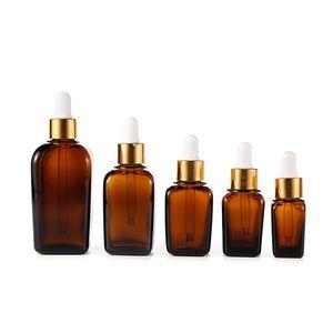 Янтарный стеклянный эфирное масло бутылка e жидкость площадь капельницы бутылки 10 мл 20 мл 30 мл несколько тип крышки