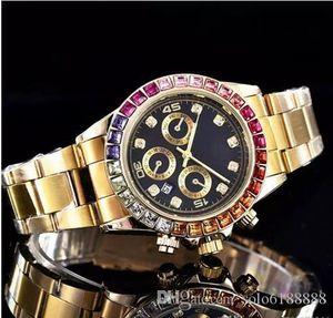 3A Качество Diamond Daydate Дизайнерские Часы Новый Роскошный Модный Бренд Продукт У Мужчин И Женщин Дата Новые Стальные Часы Кварцевые Часы Для Мужчин