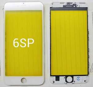 Front Touch Screen Panel Outer Glass Lens with Cold Press Middle Frame Bezel Screen Replacement For iPhone 5 6 6s 7 8 plus LCD glass min50
