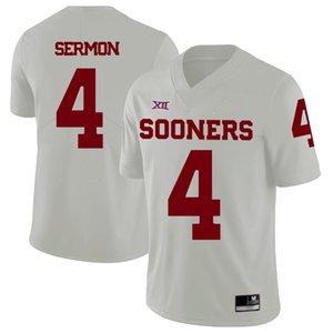 Benutzerdefinierte Herren Jugend Oklahoma Sooners irgendein Name Beliebig Anzahl Personalisierte Kinder Man Home Away NCAA College Football Jerseys