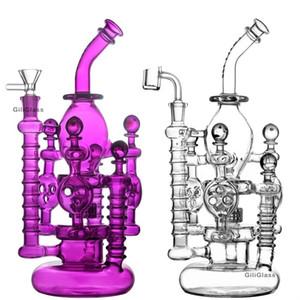 Fab Egg Bong panal perc bongs DAB aceite de pipas de vidrio del equipo de perforación Plataformas cera agua tubo de cuarzo banger fumar accesorios de pipas de agua