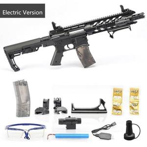 Las pistolas de juguete niños Rifle CS Disparos Juegos de Diversión eléctrico y caja fuerte de plástico kits modelo AR15