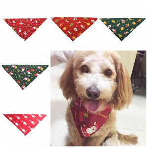 Christmas Dog Bandana Triangular Bandage Dog Collars Xmas Scarf Bib Grooming Accessories Pet Supplies 5 Designs Free Shipping YW1822