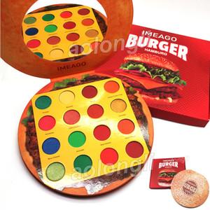 La plus nouvelle palette de fards à paupières IMEAGO Burger maquillage fard à paupières hambourg 16 couleurs garnitures délicieuses mat bronzants chatoyants Palette Blush