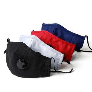 máscaras de algodón lavable de protección anti neblina de polvo de carbón activado filtra mascarilla