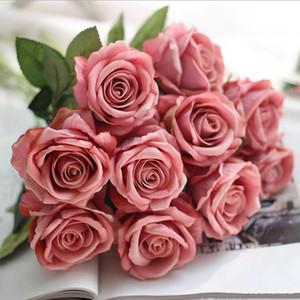 Festa Natal Home Artificial Silk Rose Flor decorações do casamento real toque Peony Marrige Flor decorativa LXL613-1 decorativa