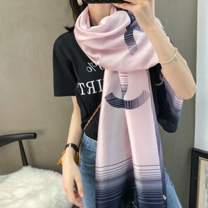Ms fabricantes que venden pañuelos de seda de lujo de 2020 cartas de diseño patrón de la primavera larga bufanda alrededor de 180 chal x90cm