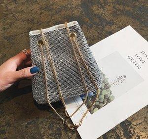 Ковш сумка Женский Коммуникатор Small Bag 2020 Новая мода Wild Атмосфера Tide корейской версии Яркий Алмазный цепи сумка Лучшие предложения по продаже