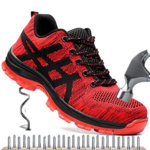 Рабочие ботинки Мужская защитная обувь Мужская Air Mesh Рабочая обувь Мужские ботинки Высококачественные стальные защитные сапоги Мужской