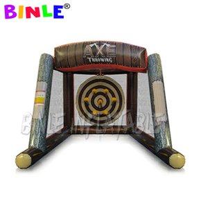 4.8m x 3m x 2.6m Carnival Games interattivo gonfiabile ascia da lancio gioco appiccicoso lancio gonfiabile di sport tiro con l'arco mira