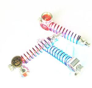 Das Metall führte Frühlingslicht Rauchen Zigarette Pfeife mit Bildschirmen farbige Lichter Tabak billig Lampe Herb Pipe Tools Zubehör