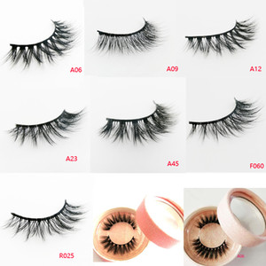 3d fiber lash 3D faux Mink lashes Makeup Cross False Eyelashes Eye Lashes Extension Handmade nature eyelashes L