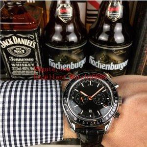 6 Hot comprar relógios 41 mm 329.32.44.51.01.001 CORRIDA CO-AXIAL caixa de aço inoxidável pulseira de couro mecânica automática Strap Mens Relógios