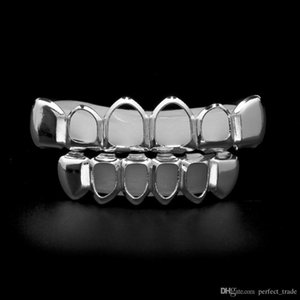 Hollow Gold Grillz Teeth Vampire Count Teeth Grillz Hip Hop Fashion Dental Grills Set Smooth Jewelry Hot Sale
