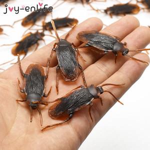 12pcs Komik Sahte Hamamböceği Cadılar Bayramı Dekorasyon Şakalar Maker Fun Yenilik Tricks Simulation Yanlış Hamamböceği Oyuncak Şaka