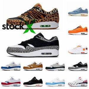 naike Air Max 90 shoes nuovo top Atmos qualità 1s scarpe da corsa formatori Atmos 1s pacchetto Animal 3.0 Elephant Bred stampa delle donne degli uomini di sport scarpe da tennis