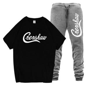 Nipsey Hussle CRENSHAW Erkek Eşofman Yaz Tişörtleri Uzun Pantolon Spor Takım Elbise Moda Tasarımcısı Mens 2 ADET Setleri
