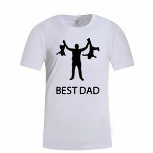 최고의 아빠 편지 인쇄 Tshirts 여름 남성 재미 캐주얼 티셔츠 짧은 소매 라운드 목 남성 디자이너 Tshirts