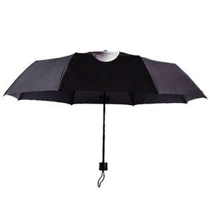 Открытый Зонтик Личность Мода Umbrella дождь Средний палец зонтик Мужчины ветрозащитный складной зонт черный Средний палец Umbr