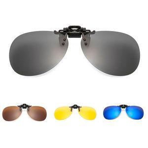 Mens Women Polarized Clip On Sunglasses Driving Night Vision Anti UVA Anti Sunglasses Clips Riding