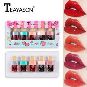 dudak kremi TEAYASON 5 taze meyve dondurma, bodur, sıvı dudak parlatıcısı, yaz ruj, yapışmaz fincan, dondurma, makyaj araçları